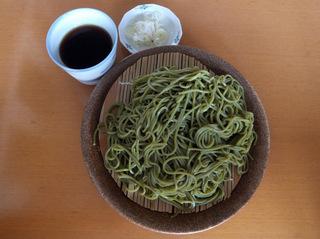 信州沢の車屋@長野県(4)茶そば.JPG