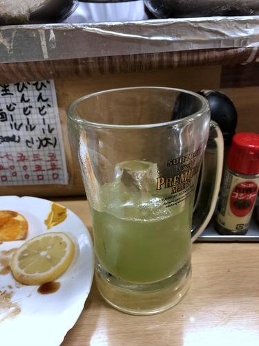 信濃路@蒲田 (10)とまと割り350エビフライ500青汁割り350たぬきそば300.jpg