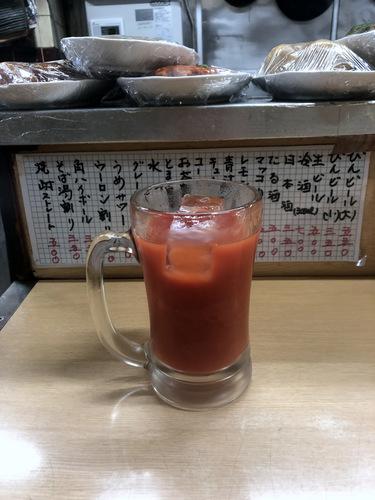 信濃路@蒲田 (3)とまと割り350エビフライ500青汁割り350たぬきそば300.jpg