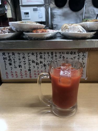信濃路@蒲田 (4)とまと割り350エビフライ500青汁割り350たぬきそば300.jpg