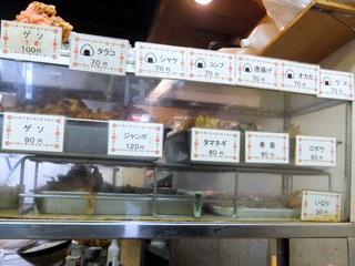 六文そば日暮里第2号店@日暮里(3)かけそば200ゲソ(生姜)100.JPG