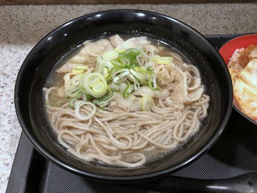 富士そば浜松町店@大門 (3)肉骨茶そば580ミニかつ丼270.jpg