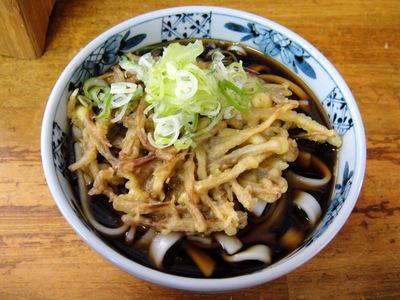 山田製麺所本店@入谷 (5) ごぼう天ひも川うどん380.JPG