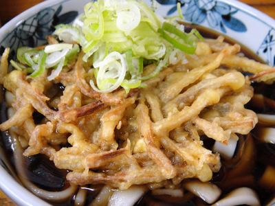 山田製麺所本店@入谷 (6) ごぼう天ひも川うどん380.JPG