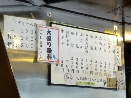 幸寿司(吉田屋そば店)@高田馬場 (9)たぬきそば390味付玉子70.JPG