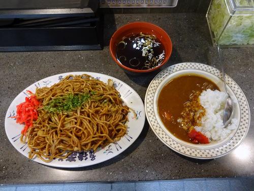 後楽そば@五反田 (9)ミニカレーセット(焼きそば)600.JPG