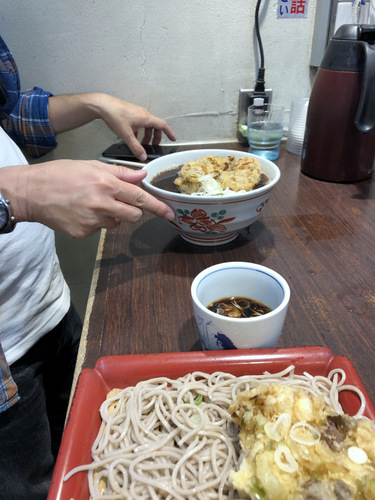 永坂更科@新宿 (7)肉天もり820肉天そば820.jpg