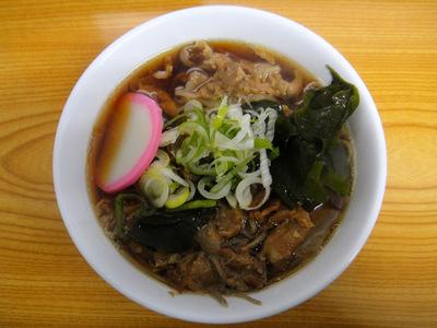 瓢箪@市ヶ谷 (4) 肉(ポーク)そば430円.JPG