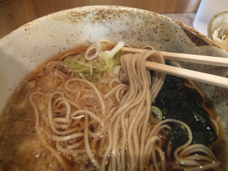 甲斐そば@大森海岸(4)焼肉丼セット温そば580.JPG