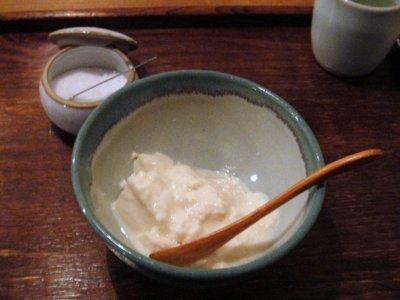 眠庵@神田(5)豆腐(自家製)320円.JPG