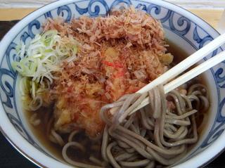 稲浪@新小川町(5)おかか煮かけそば300紅しょうが天90のり巻60.JPG