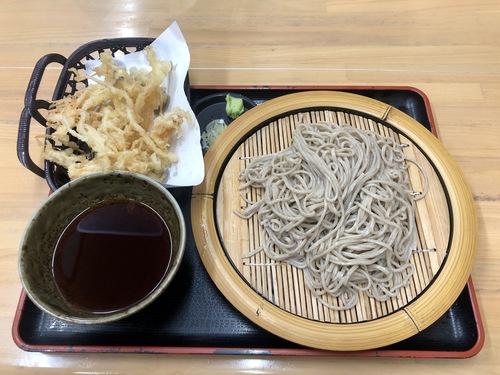 蕎麦こばやし@高田馬場 (7)えのき天そば冷500.jpg