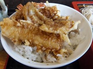 蕎麦政@南花畑(4)天丼セット660.JPG