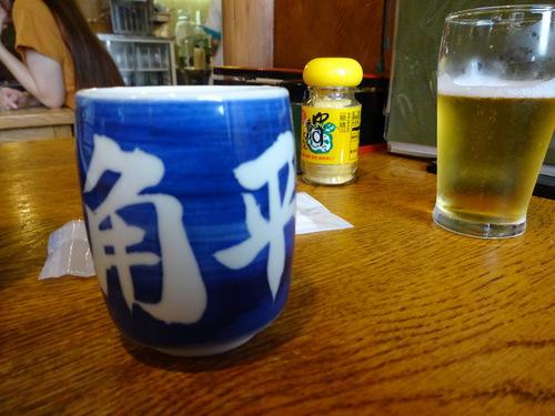 角平@横浜 (19)かき揚げつけ天そば1370瓶ビール630.JPG