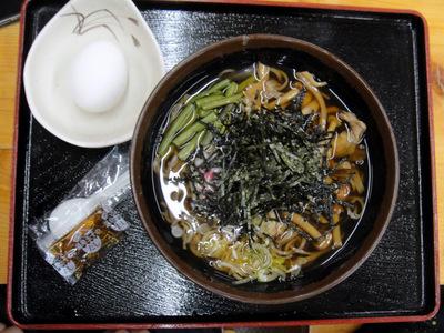 谷間茶屋@白根温泉(8)山菜そば700温泉たまご150.JPG