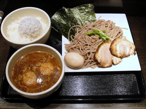 龍馬灯@大門 (6) 特製つけ蕎麦 850円、じゃこめし 300円.JPG